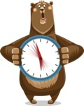 Bear Cartoon Vector Character AKA Barry Bearhug - Time is Yours