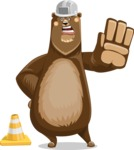 Bear Cartoon Vector Character AKA Barry Bearhug - Under Construction 1