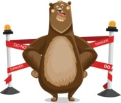 Bear Cartoon Vector Character AKA Barry Bearhug - Under Construction 2