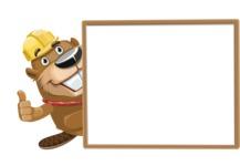 Beaver Cartoon Vector Character AKA Bent the Beaver - Presentation 5