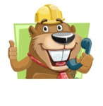 Beaver Cartoon Vector Character AKA Bent the Beaver - Shape 1
