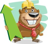 Beaver Cartoon Vector Character AKA Bent the Beaver - Shape 5