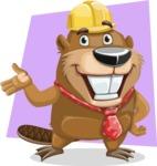 Beaver Cartoon Vector Character AKA Bent the Beaver - Shape 6