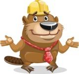 Beaver Cartoon Vector Character AKA Bent the Beaver - Sorry