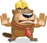 Beaver Cartoon Vector Character AKA Bent the Beaver - Stop 2
