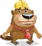 Beaver Cartoon Vector Character AKA Bent the Beaver - Sad