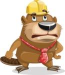 Beaver Cartoon Vector Character AKA Bent the Beaver - Roll Eyes