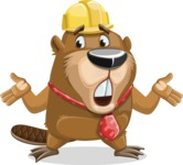 Beaver Cartoon Vector Character AKA Bent the Beaver - Lost