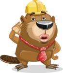 Beaver Cartoon Vector Character AKA Bent the Beaver - Duckface