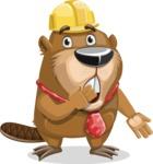 Beaver Cartoon Vector Character AKA Bent the Beaver - Oops