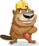 Beaver Cartoon Vector Character AKA Bent the Beaver - Patient