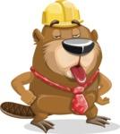Beaver Cartoon Vector Character AKA Bent the Beaver - Making Face