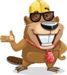 Beaver Cartoon Vector Character AKA Bent the Beaver - Sunglasses