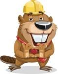 Beaver Cartoon Vector Character AKA Bent the Beaver - Show Love