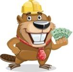 Beaver Cartoon Vector Character AKA Bent the Beaver - Show me  the Money