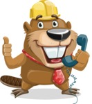Beaver Cartoon Vector Character AKA Bent the Beaver - Support