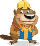 Beaver Cartoon Vector Character AKA Bent the Beaver - Gift