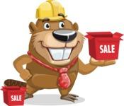 Beaver Cartoon Vector Character AKA Bent the Beaver - Sale