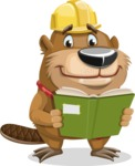 Beaver Cartoon Vector Character AKA Bent the Beaver - Book 1