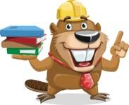 Beaver Cartoon Vector Character AKA Bent the Beaver - Book 2