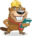 Beaver Cartoon Vector Character AKA Bent the Beaver - Book 3