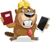 Beaver Cartoon Vector Character AKA Bent the Beaver - Book and iPad