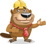 Beaver Cartoon Vector Character AKA Bent the Beaver - Showcase