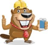 Beaver Cartoon Vector Character AKA Bent the Beaver - iPhone