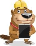 Beaver Cartoon Vector Character AKA Bent the Beaver - iPad 1