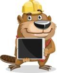 Beaver Cartoon Vector Character AKA Bent the Beaver - iPad 2