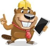 Beaver Cartoon Vector Character AKA Bent the Beaver - iPad 3