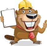 Beaver Cartoon Vector Character AKA Bent the Beaver - Notepad 1