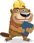 Beaver Cartoon Vector Character AKA Bent the Beaver - Notepad 2
