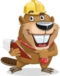 Beaver Cartoon Vector Character AKA Bent the Beaver - Notepad 3