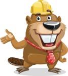 Beaver Cartoon Vector Character AKA Bent the Beaver - Showcase 2