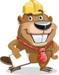 Beaver Cartoon Vector Character AKA Bent the Beaver - Notepad 4