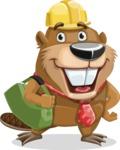 Beaver Cartoon Vector Character AKA Bent the Beaver - Travel 2