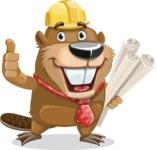 Beaver Cartoon Vector Character AKA Bent the Beaver - Plans