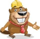 Beaver Cartoon Vector Character AKA Bent the Beaver - Show