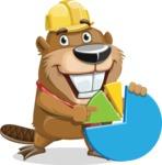 Beaver Cartoon Vector Character AKA Bent the Beaver - Chart
