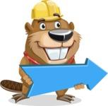 Beaver Cartoon Vector Character AKA Bent the Beaver - Pointer 2