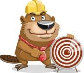 Beaver Cartoon Vector Character AKA Bent the Beaver - Target