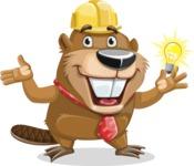 Beaver Cartoon Vector Character AKA Bent the Beaver - Idea 1