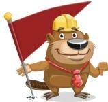 Beaver Cartoon Vector Character AKA Bent the Beaver - Checkpoint