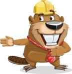 Beaver Cartoon Vector Character AKA Bent the Beaver - Show 2