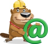 Beaver Cartoon Vector Character AKA Bent the Beaver - Email