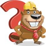Beaver Cartoon Vector Character AKA Bent the Beaver - Question