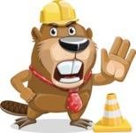 Beaver Cartoon Vector Character AKA Bent the Beaver - Under Construction 1