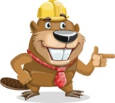 Beaver Cartoon Vector Character AKA Bent the Beaver - Point