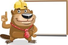 Beaver Cartoon Vector Character AKA Bent the Beaver - Presentation 3